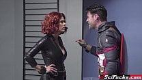 Capitán América follando a Black Widow